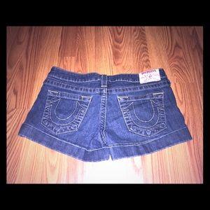 True religion denim shorts size 29